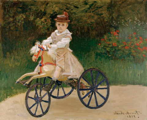 Claude Monet - Jean Monet on his Hobby Horse, 1872