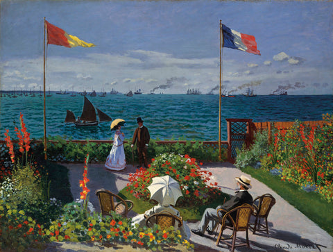 Jardin a_ Sainte-Adresse, 1866/1867 -  Claude Monet - McGaw Graphics