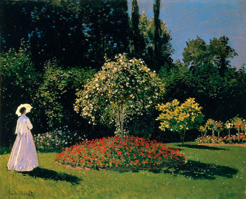Woman in the Garden, Sainte-Adresse, 1867 -  Claude Monet - McGaw Graphics