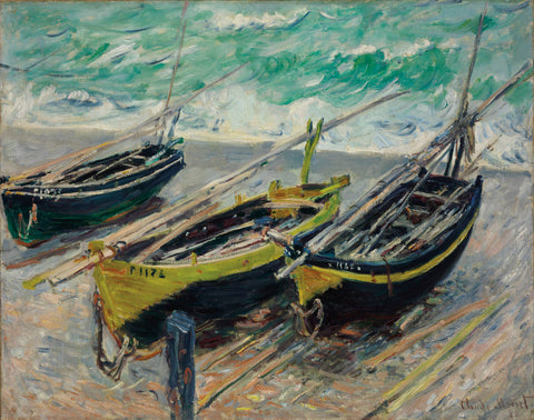 Claude Monet - Three Fishing Boats, 1886