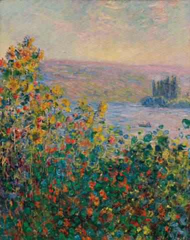 Flower Beds at Vetheuil, 1881 -  Claude Monet - McGaw Graphics