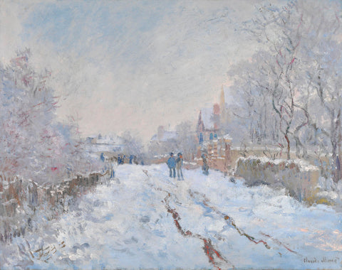 Snow at Argenteuil, 1875 -  Claude Monet - McGaw Graphics