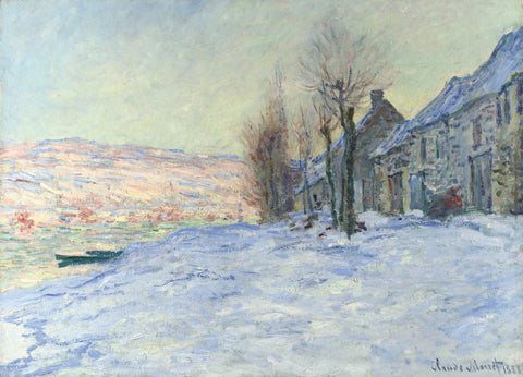 Lavacourt, under Snow, ca. 1878-1881 -  Claude Monet - McGaw Graphics