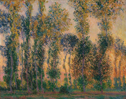 Claude Monet - Poplars at Giverny, Sunrise, 1888