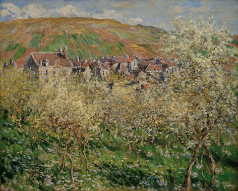 Claude Monet - Plum Trees in Blossom, 1879