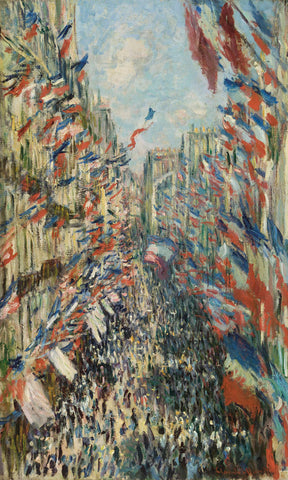 Claude Monet - The Rue Montorgueil in Paris Celebration of June 30, 1878