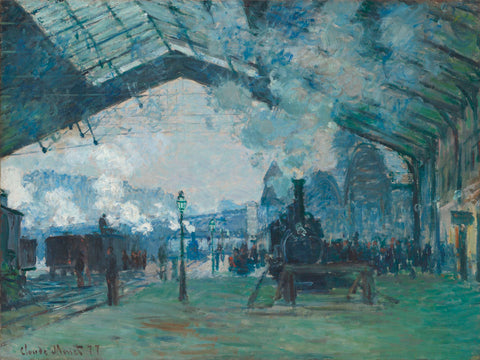 Arrival  of the Normandy Train, Gare Saint-Lazare, 1877 -  Claude Monet - McGaw Graphics