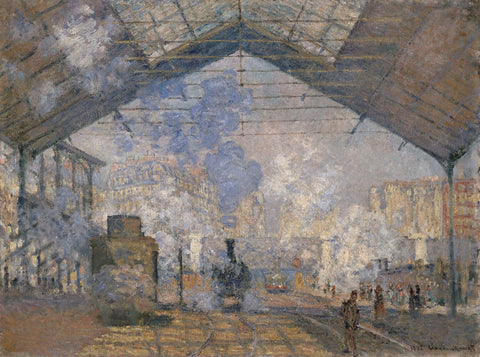 The Saint-Lazare Station, 1877 -  Claude Monet - McGaw Graphics