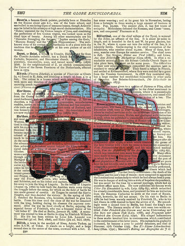 Butterfly London Bus -  Marion McConaghie - McGaw Graphics