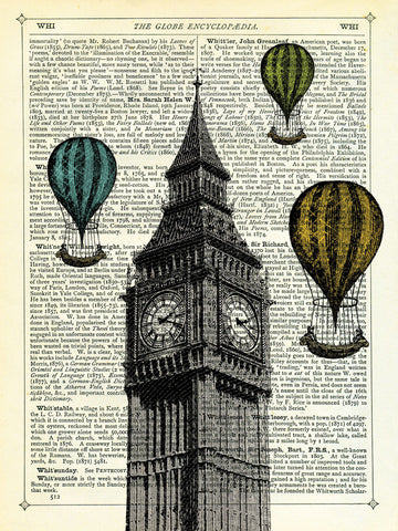 Big Ben & Balloons -  Marion McConaghie - McGaw Graphics