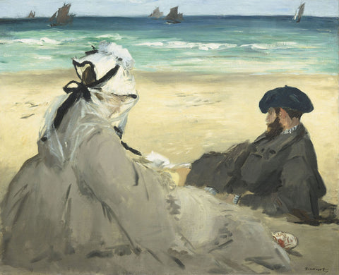 On the Beach, 1873 -  Edouard Manet - McGaw Graphics