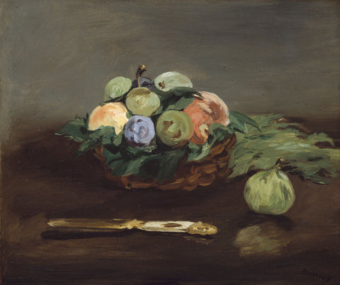 Basket of Fruit, about 1864 -  Edouard Manet - McGaw Graphics