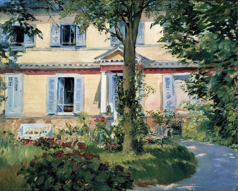 The House at Rueil, 1882 -  Edouard Manet - McGaw Graphics