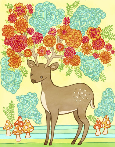 Deer Bloom -  My Zoetrope - McGaw Graphics