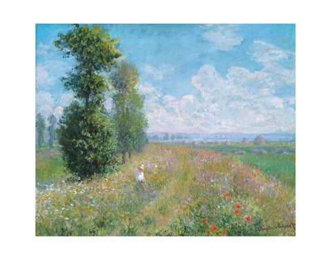 Meadow with Poplars, about 1875 -  Claude Monet - McGaw Graphics