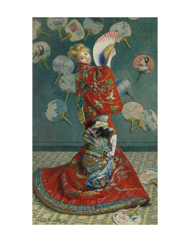 La Japonaise (Camille Monet in Japanese Costume), 1876 -  Claude Monet - McGaw Graphics