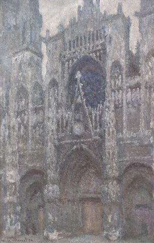 The Cathedral in Rouen, The Portal, Grey Weather, 1892 -  Claude Monet - McGaw Graphics
