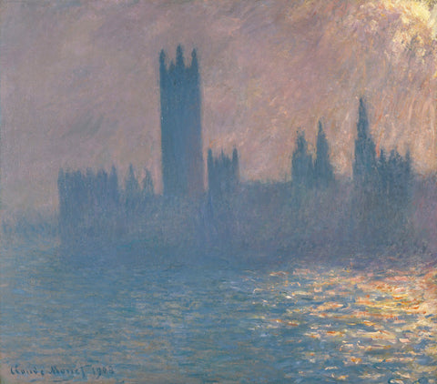 Claude Monet - Houses of Parliament, Sunlight Effect (Le Parlement, effet de soleil), 1903