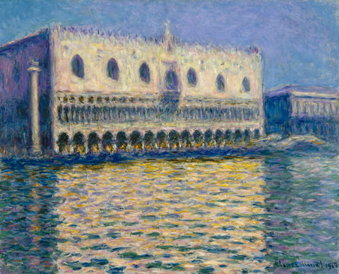 The Doges Palace, 1908 -  Claude Monet - McGaw Graphics
