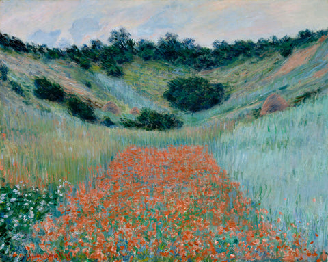Poppy Field in a Hollow Near Giverny, 1885 -  Claude Monet - McGaw Graphics