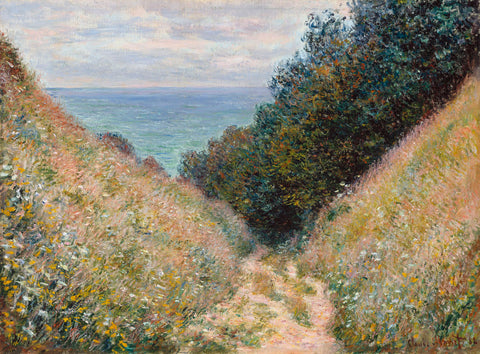 Claude Monet - Road at La Cavée, Pourville, 1882
