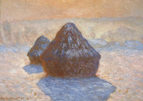 Haystacks: Snow Effect, 1891 -  Claude Monet - McGaw Graphics