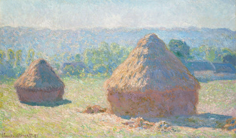 Haystacks, End of Summer, 1891 -  Claude Monet - McGaw Graphics