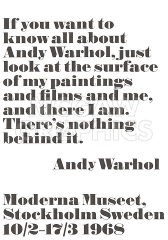 If you want to know all about Andy Warhol... -  Andy Warhol/ John Melin - McGaw Graphics