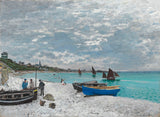 Claude Monet - The Beach at Sainte-Adresse, 1867