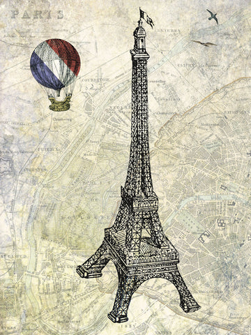Eiffel Map -  Marion McConaghie - McGaw Graphics