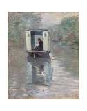 The Studio Boat (Le Bateau-atelier), 1876 -  Claude Monet - McGaw Graphics