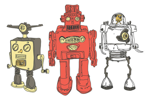 Three Robots -  Paul McCreery - McGaw Graphics