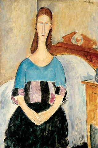 Amedeo Modigliani - Portrait of Jeanne Hebuterne, Seated, 1918