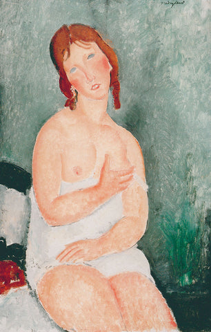 Amedeo Modigliani - Young Woman in a Shirt, 1918
