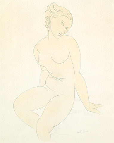 Amedeo Modigliani - Seated Female Nude, ca. 1917