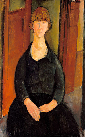 Amedeo Modigliani - Flower Vendor, 1919