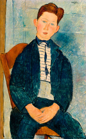 Amedeo Modigliani - Boy in a Striped Sweater, 1918