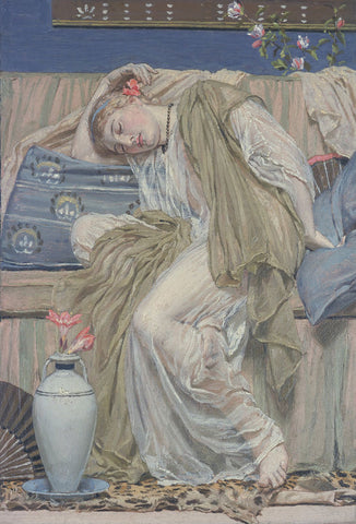 A Sleeping Girl, ca. 1875 -  Albert Moore - McGaw Graphics