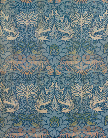 "Panel Entitled ""Peacock and Dragon"", 1878 -  William Morris - McGaw Graphics"