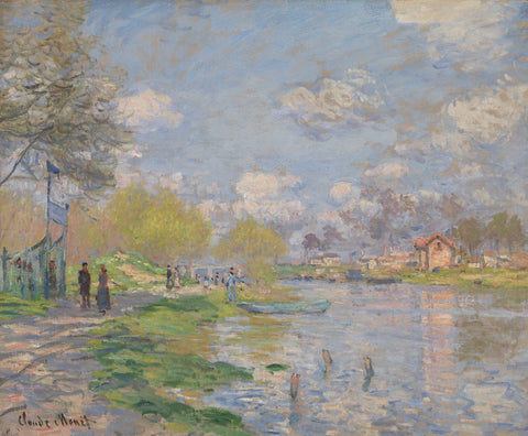 Spring by the Seine, 1875 -  Claude Monet - McGaw Graphics
