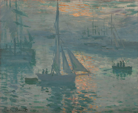 Claude Monet - Sunrise (Marine), 1873