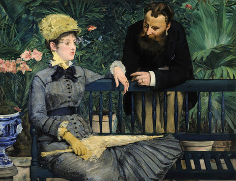 In the Conservatory, 1879 -  Edouard Manet - McGaw Graphics