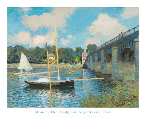 The Bridge at Argenteuil, 1874 -  Claude Monet - McGaw Graphics