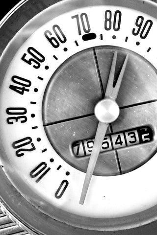Classic Car Detail: 1960 Thunderbird Speedometer