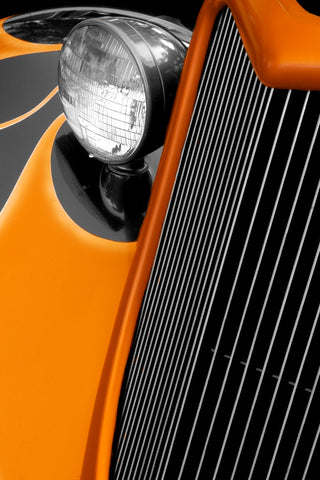 Classic Car Detail: Orange Edges
