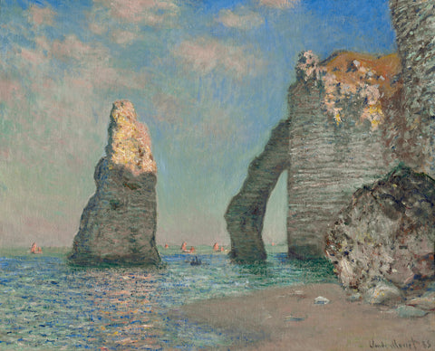 The Cliffs at Étretat, 1885 -  Claude Monet - McGaw Graphics