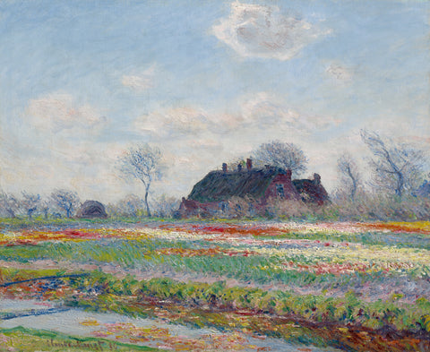 Tulip Fields at Sassenheim, 1886 -  Claude Monet - McGaw Graphics