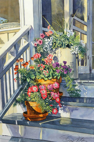 Cottage Steps - Macatawa -  Stan Myers - McGaw Graphics