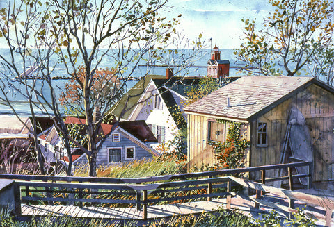 Cottage Boardwalk -  Stan Myers - McGaw Graphics