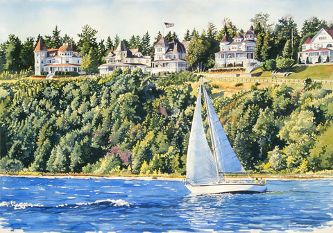 Grand Ladies - Mackinac Island -  Stan Myers - McGaw Graphics
